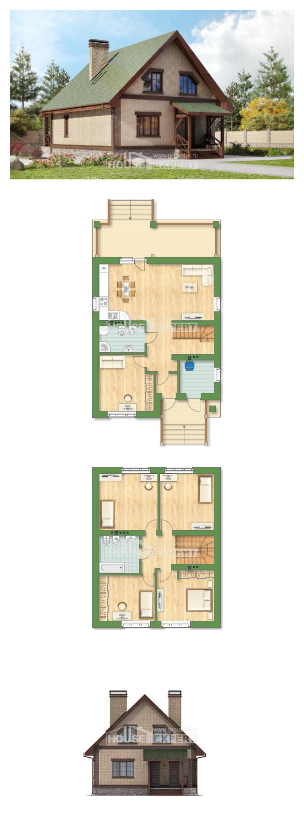Проект дома 160-011-П   House Expert